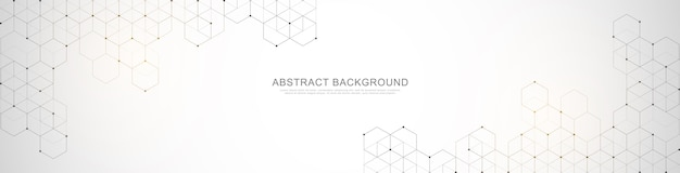 Banner ontwerpsjabloon. abstracte achtergrond met geometrische vormen en zeshoek.