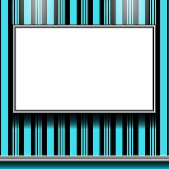 Banner op kleurenmuur