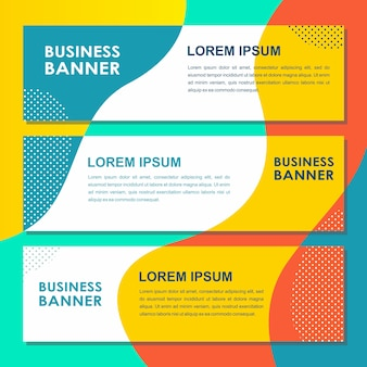 Banner pop website banners vloeibare abstracte vloeibare platte vector