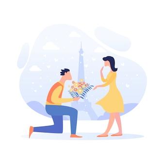 Banner relatie leidt tot bruiloft cartoon.