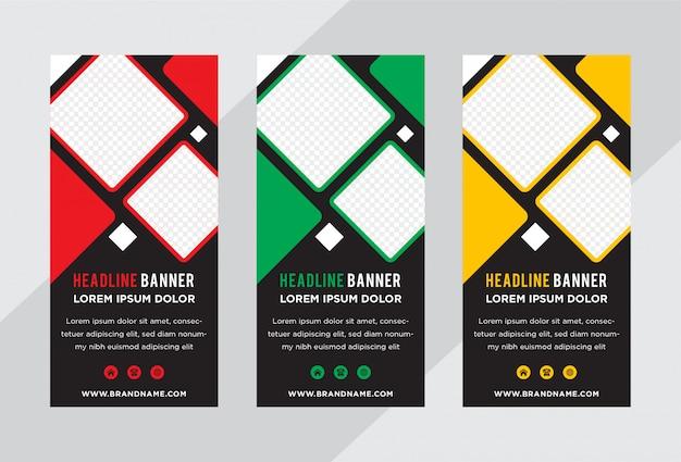 Banner roll-up sjabloon voor zaken of tentoonstelling.