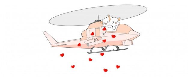 Banner schattige katten verspreiden harten