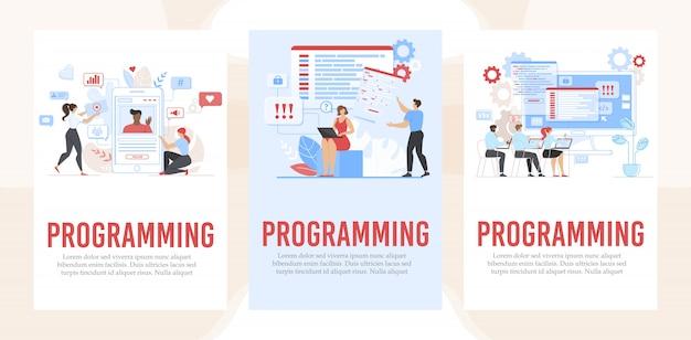 Banner set ondersteuning reclame programmering service