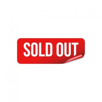 Banner sticker rood lint uitverkocht vector