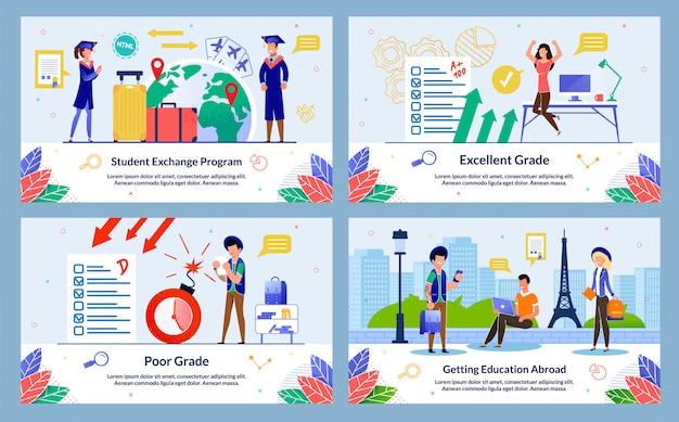 Banner, studentenuitwisselingsprogramma, slecht cijfer.