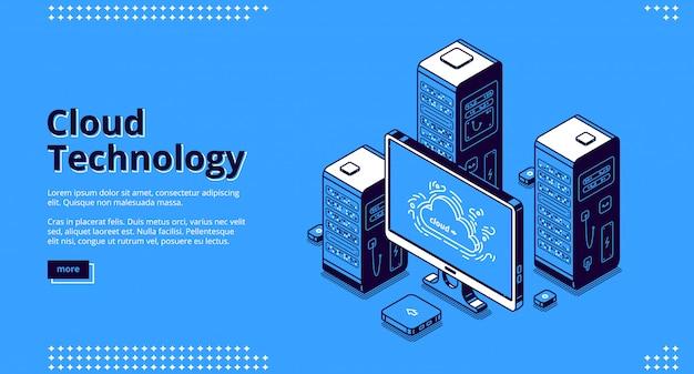 Banner van cloudtechnologie
