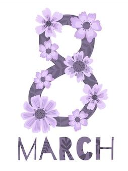 Banner van de internationale vrouwendag