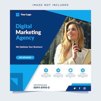 Banner van een digitaal marketingbureau