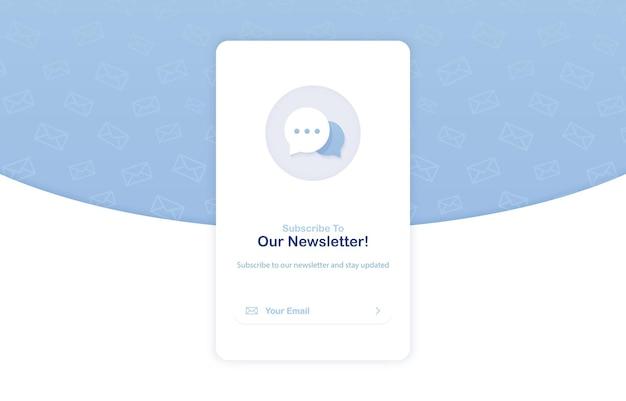 Banner van een e-mailmarketing voor abonnement op nieuwsbrief