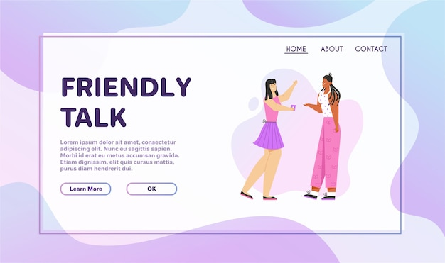 Banner van friendly talk concept.