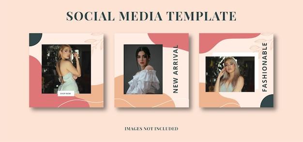 Banner voor advertentiesjabloon voor sociale media