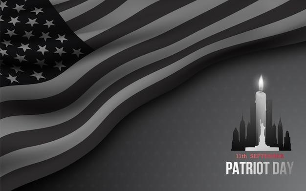 Banner voor amerikaanse patriotdag