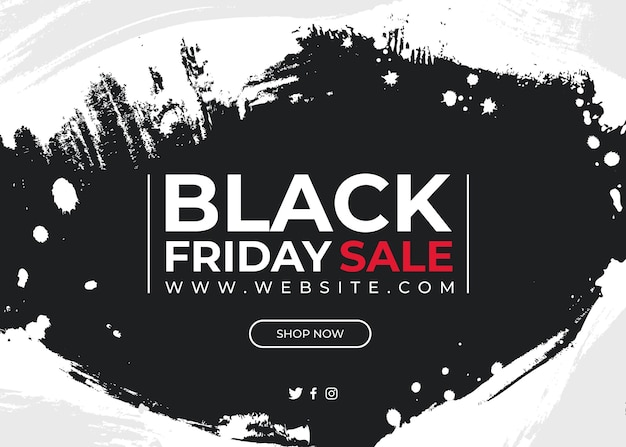 Banner voor black friday zwart-wit