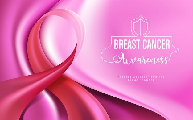 Banner voor borstkanker bewustmakingscampagne