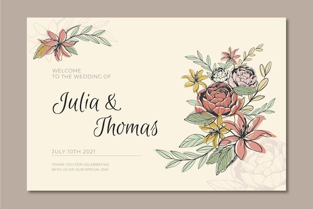 Banner voor bruiloft