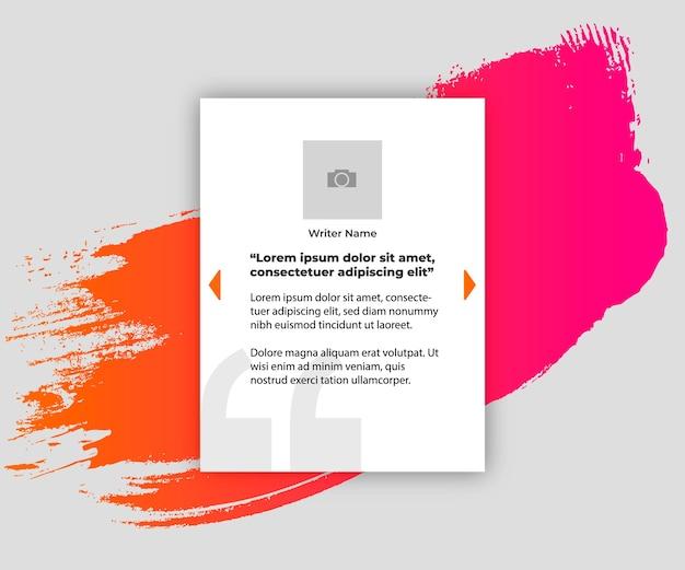 Banner voor citaat met kleurrijke splash