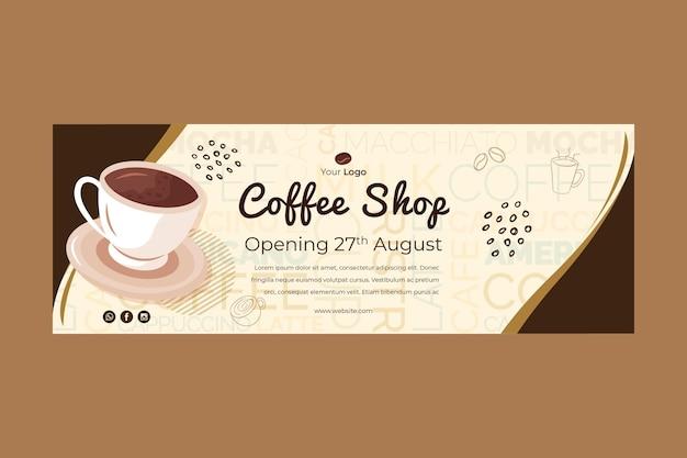 Banner voor coffeeshop