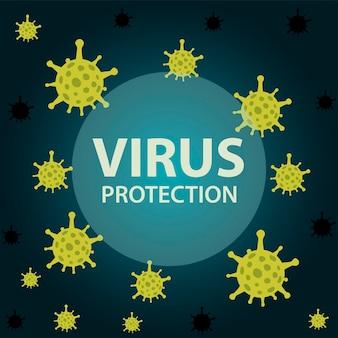 Banner voor covid-virusbescherming van en coronavirus-thema