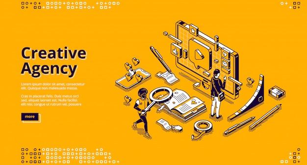 Banner voor creatief bureau