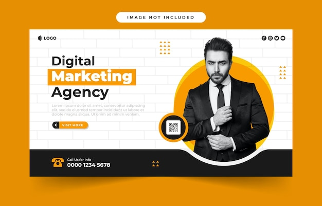 Banner voor digitale marketingbureau