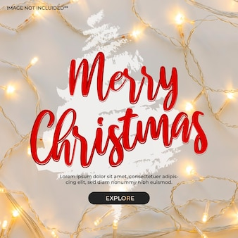 Banner voor kerstmis met boom in splash