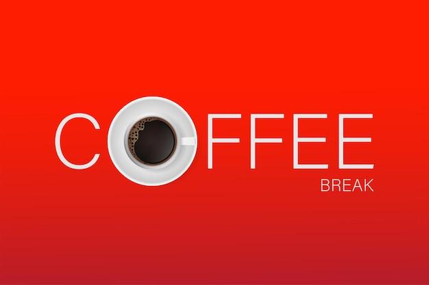 Banner voor koffiedrankpauze