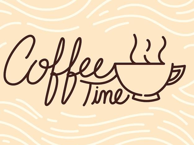 Banner voor koffietijd
