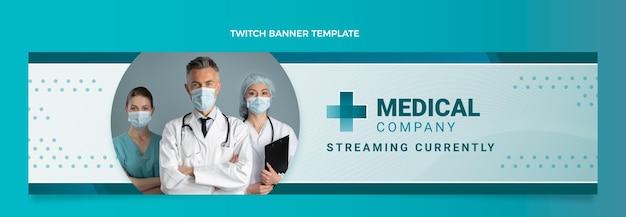 Banner voor medische twitch met kleurovergang