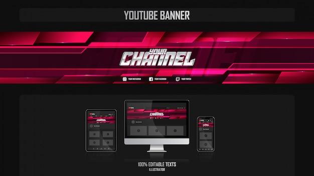Banner voor social media kanaal met aëroob concept