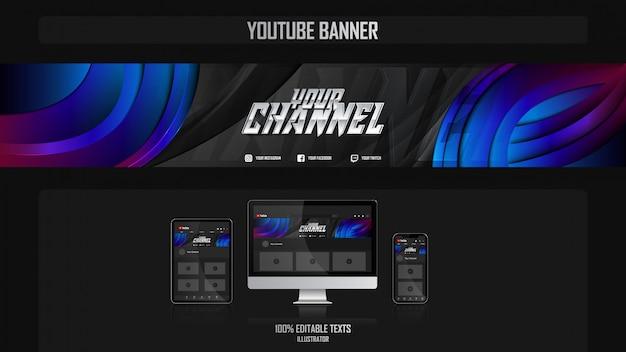 Banner voor social media-kanaal met bedrijfsconcept