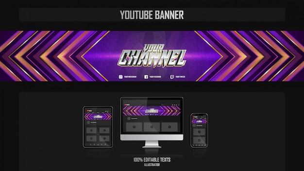 Banner voor social media kanaal met crossfit concept