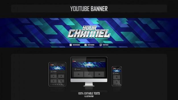 Banner voor social media kanaal met filmisch concept
