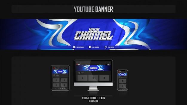 Banner voor social media kanaal met fitness concept