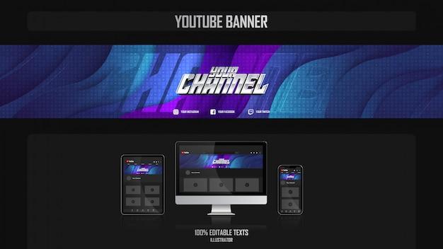 Banner voor social media kanaal met gezond concept
