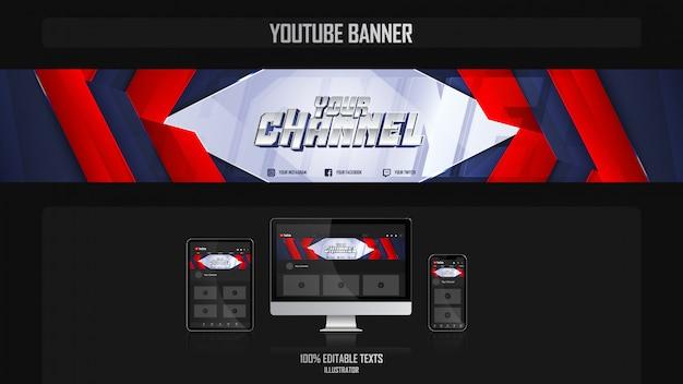 Banner voor social media kanaal met harmonious concep