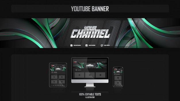 Banner voor social media kanaal met harmonious concept