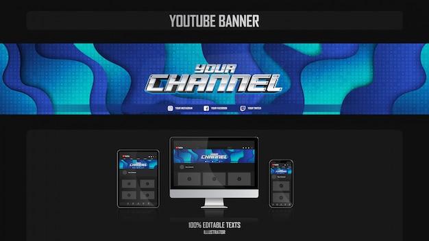 Banner voor social media kanaal met muziek concep