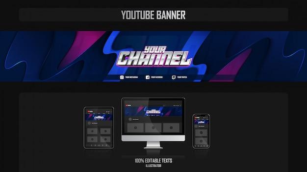 Banner voor social media kanaal met oceanic concept