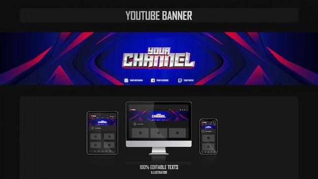 Banner voor social media-kanaal met oceanic-concept