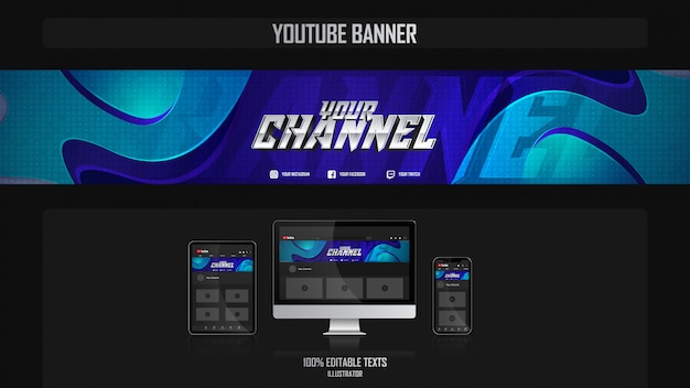Banner voor social media kanaal met sport concept