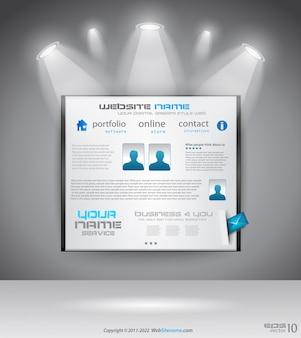 Banner voor webpagina met lichten