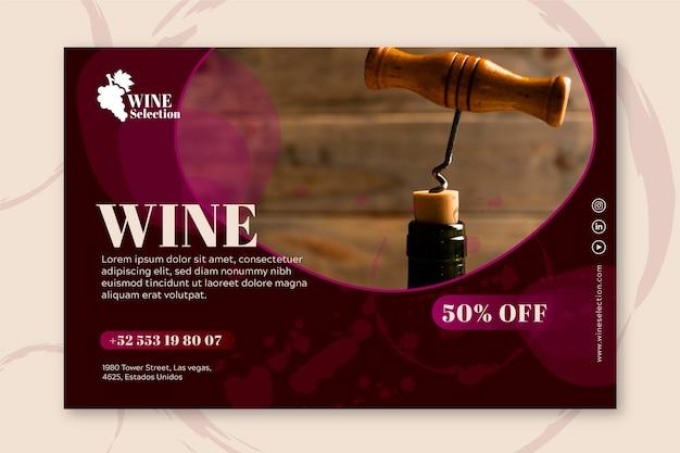 Banner voor wijnproeven