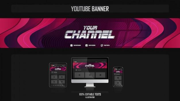 Banner voor youtube-kanaal met dansconcept