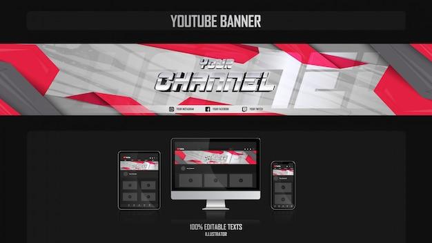 Banner voor youtube-kanaal met fantasy-concept