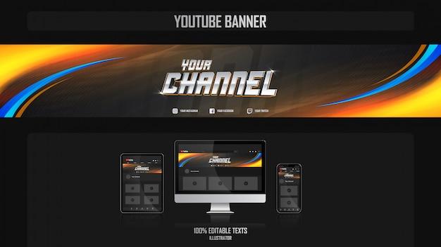 Banner voor youtube-kanaal met filmisch concept