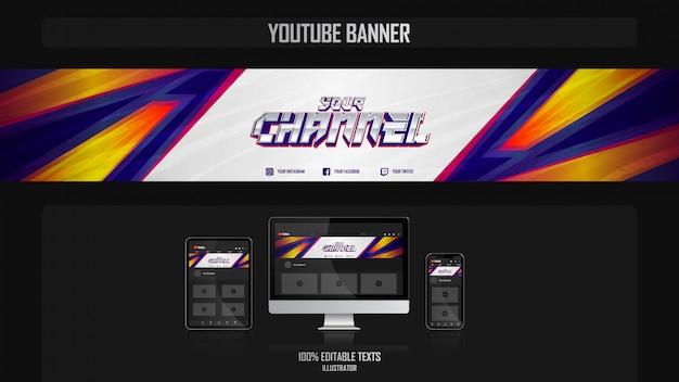 Banner voor youtube-kanaal met gamer-concept