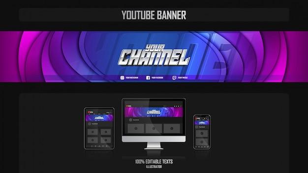 Banner voor youtube-kanaal met harmonieus concept