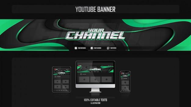 Banner voor youtube-kanaal met nature concept