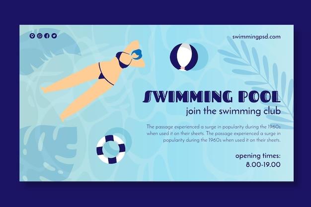 Banner voor zwemclub