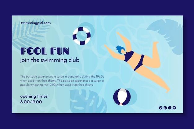 Banner voor zwemclub Gratis Vector